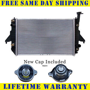 Radiator With Cap For Chevy Gmc Fits Safari Astro Van 4 3 V6 6cyl 2003wc