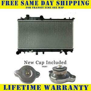 Radiator With Cap For Subaru Fits Legacy Outback 2 5 H4 4cyl 2778wc