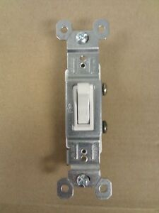 500 Pass Seymour P s Legrand 15 Amp Single Pole Toggle Switch White Blowout