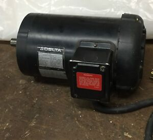 Delta Planer Motor For Dc 33 model 22 660 3 Hp 3 Phase Excellent Condition