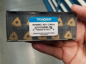 Wnmg 331 Cm14 Tracker coated Solid Carbide Inserts 5pks Of 10pcs lot Of 50