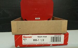 666 1 1 2 Thickness Gauge Feeler Stock Roll 0 0015 X 25ft 52797 New