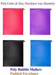 Colorful Poly Bubble Mailers Padded Shipping Mailing Bags Padded Envelopes