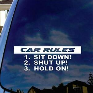 Rules For Passengers Vinyl Decal Sticker Euro Jdm Wrx Stance Mud Diesel Funny