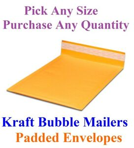Kraft Bubble Mailers Padded Shipping Mailing Bags Padded All Sizes Envelopes