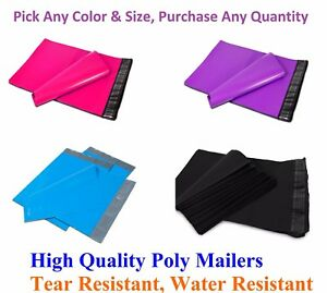 Poly Mailers Shipping Envelopes Plastic Mailing Bags Seal Colorful Hot Pink Qty