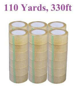 1 72 Rolls Strong Packing Packaging Carton Box Tape 330ft 110 Yards Heavy Duty