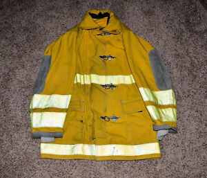 Globe Firefighter Coat Bunker Turnout Gear Size 38 Length 35 Pcfd