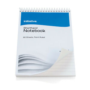 Shorthand Reporters Note Pad Notebook Spiral Bound Ruled Cheap 160 Pages 8 X 5