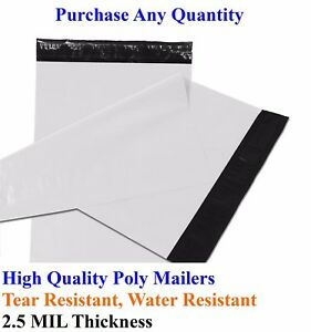 25 2000 19 X 24 Poly Mailers Envelopes Plastic Shipping Bag Mailing 19x24 Inch