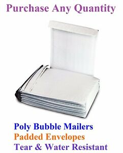 10 2000 00 5x10 Mailing Small Poly Bubble Mailers Padded Envelopes Bags 5 X 9