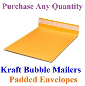10 2000 00 5x10 Mailing Small Kraft Bubble Mailers Padded Envelopes Bags 5 X 9