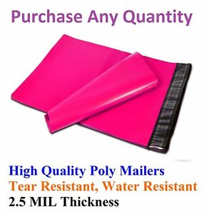 6x9 Hot Pink Poly Mailers Shipping Envelopes Plastic Mailing Bags Colorful 6 X 9