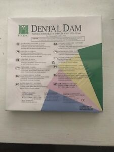 Hygenic Dental Dam Natural Rubber Latex 36 Pieces 6 X 6 152 X 152 Mm