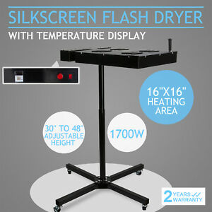 16 X16 Flash Dryer Silkscreen T shirt Screen Printing Curing Adjustable Height