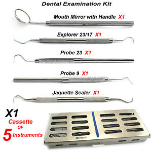Dental Hygienist Examination Basic Kit Tooth Scraper Pocket Probe Plaque