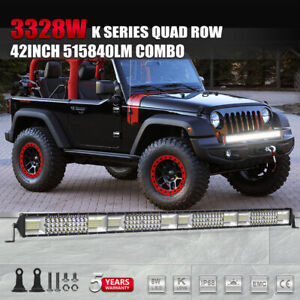42inch Cree 2376w Tri Row Led Work Light Bar Combo For Jeep Truck Offroad Suv