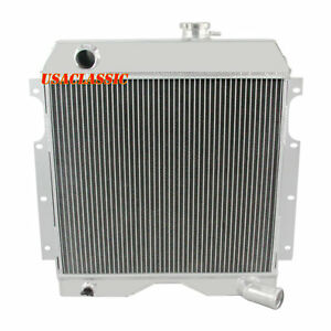 Best 3row Aluminum Radiator For Jeep Willys Truck utility Wagon 6 226 1954 1964