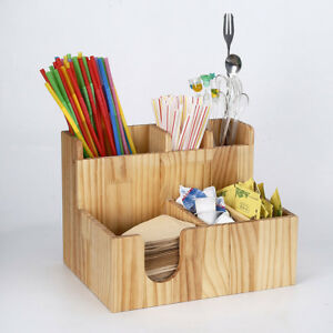 Coffee Condiment And Accessories Organizer For Hotel Restaurant Breakroom