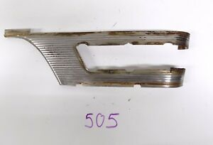1955 55 Packard Patrician 400 Rh Front Fender Molding Stainless Parking Light