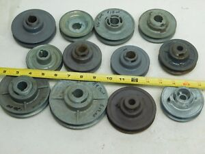 Lot Of 12 New Congress Browning V belt Pulley Adjustable Width Various Sizes Ap