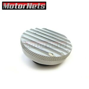 Radiator Cap Satin Aluminum 16 Lbs Finned Ground Knurled Grip Ford Chevy Sbc Bbc