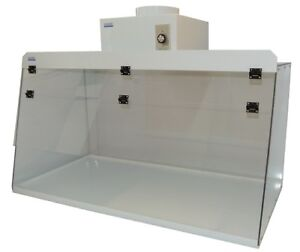 Cleatech Clear Polycarbonate 48 Ducted Fume Hood W Worksurface And Blower