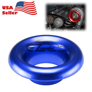 3 5 Blue Short Ram Cold Air Intake Turbo Horn Aluminum Velocity Stack