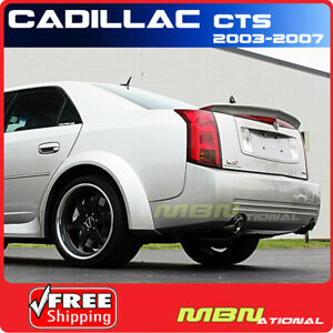 03 07 Cadillac Cts 4dr Sedan Rear Trunk Lip Spoiler Coated Paint Painted Abs