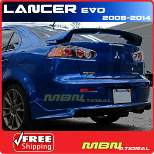 08 13 Mitsubishi Lancer 4dr Rear Trunk Wing Tail Spoiler Primer Unpainted Abs