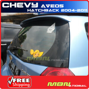 04 11 For Chevrolet Aveo 5dr Hatch Rear Trunk Roof Tail Wing Spoiler Unpainted