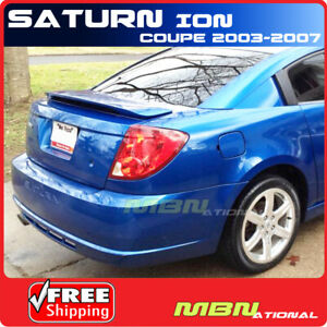 03 07 Saturn Ion 2dr Coupe Rear Tail Trunk Wing Spoiler Primer Unpainted Abs