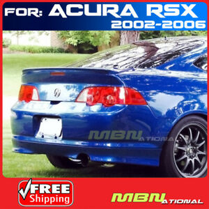 02 06 For Acura Rsx 2d 2d Rear Tail Trunk Lip Spoiler Primer Unpainted Abs