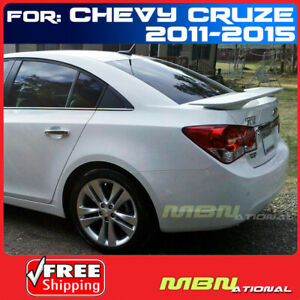 For 11 15 Chevy Cruze 4dr Sedan Rear Trunk Tail Wing Spoiler Primer Unpainted