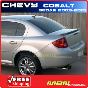 05 10 Chevrolet Cobalt 4dr Sedan Rear Trunk Wing Spoiler Primer Unpainted Abs