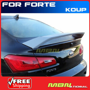 Spoiler Wing For 14 18 Kia Forte Koup 2dr 2 Post Primer Unpainted Abs Rear Trunk