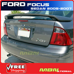 For 05 07 Ford Focus Sedan Rear Trunk Spoiler Painted Abs Sn Sonic Blue