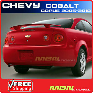 05 10 Chevrolet Cobalt Coupe Rear Trunk Spoiler Painted Abs Wa8555 Black