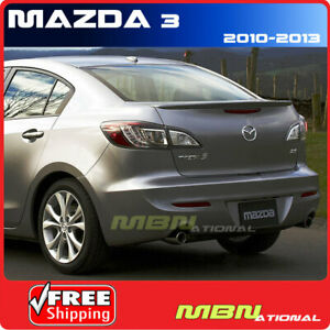 10 13 Mazda 3 Sedan Rear Trunk Deck Mounted Lip Spoiler Painted 27a Velocity Red