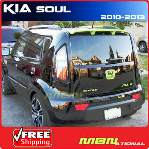 For 10 13 Kia Soul Rear Trunk Roof Spoiler Painted Abs 3d Bright Silver