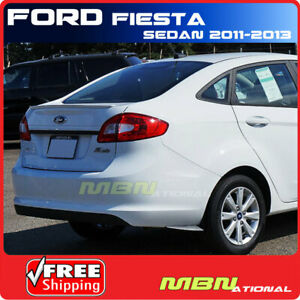 For 11 Ford Fiesta Sedan Rear Trunk Deck Spoiler Painted Abs Yz Oxford White