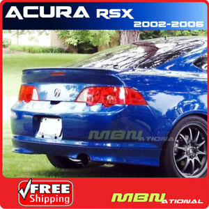 02 06 For Acura Rsx 2d Rear Trunk Deck Spoiler Painted Nh623m Satin Silver Met