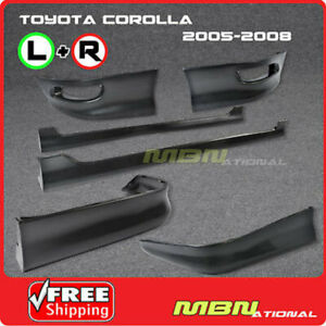 05 08 Toyota Corolla S Style Front Rear Lower Lip Spoiler Body Kit Side Skirt