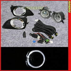 For 10 11 Camry Bumper Fog Light Led Halo Clear Switch Harness Replacement