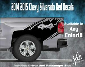 2014 2015 2016 Chevy Silverado Vinyl Decal Sticker 4x4 Splash Graphic Stripe