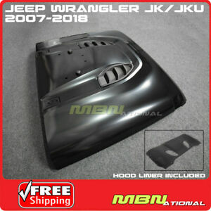 Jeep Jk Wrangler 07 18 Steel Front Rubicon 10th Anniversary Hard Rock Style Hood