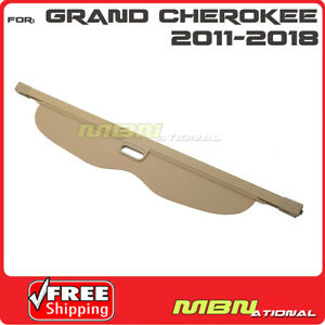 For 11 16 Jeep Grand Cherokee Trunk Retractable Tan Cargo Cover Luggage Shade