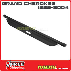 For 99 04 Jeep Grand Cherokee Trunk Retractable Black Cargo Cover Luggage Shade