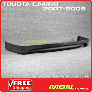 For 07 09 Toyota Camry Se Rear Bumper Lower Lip Spoiler Valance Replacement