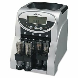 Coin Counting Machine Money Change Sorting Digital 2 Row Sorter Black Silver
